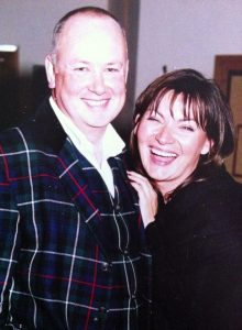 Stuart with life long pal Lorraine Kelly - love the suit