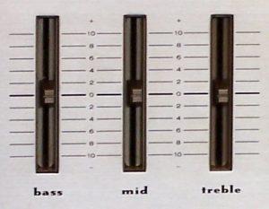 Bass Treble Slide Controls